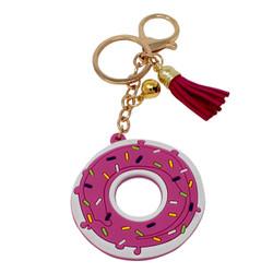 Donut Keychain Bag Charm PVC