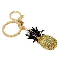 Rhinestone Pineapple Keychain Bag Charm