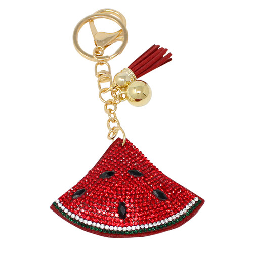Watermelon Key Chain with Soft Padded Felt Backing