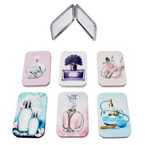 Set of 6 Perfume Bottle Compact Mirror Rectangular