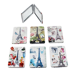 Set of 6 Eiffel Tower Compact Mirror Rectangular