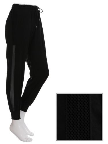 Black Jogger Side Mesh Panel Size 8-12