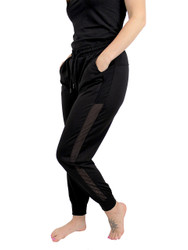 Black Jogger Side Mesh Panel Size 8-12