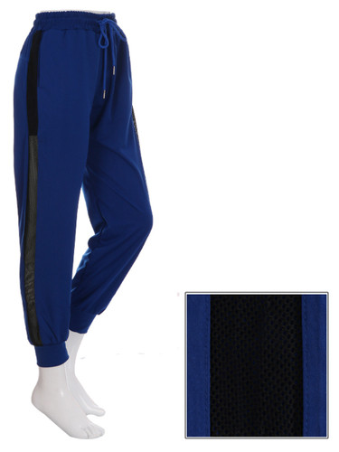 Blue Jogger Side Mesh Panel Size 8-12