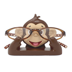 "Cute Monkey Eyeglass Stand 4.5""L"