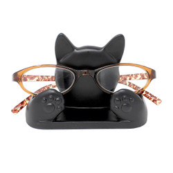"Black Cat Eyeglass Stand 4.5""L"
