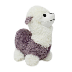 "Cute Plush Llama Keychain Purse Charm 5""H lilac"