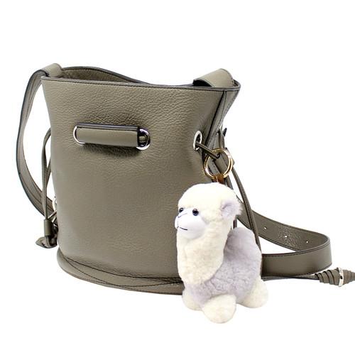 "Cute Plush Llama Keychain Purse Charm 5""H black"