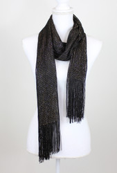 Shimmer and Shine Scarf Black and Gold