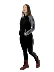 Comfy Activewear Set with Stripes Brushed Black L/XL