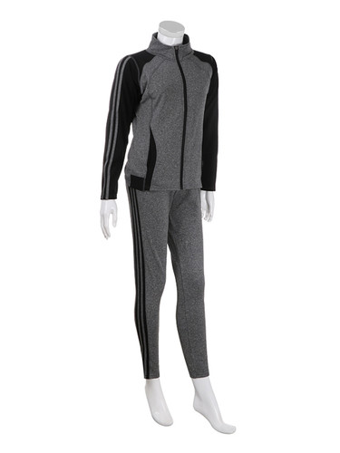 Comfy Activewear Set with Stripes Brushed Grey L/XL