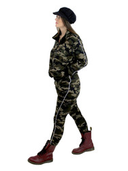 Camouflage Activewear Set Faux Fur Brushed L/XL