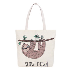 Slow Down Sloth Tote Beach Bag
