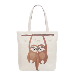 I Love You Sloth Tote Beach Bag