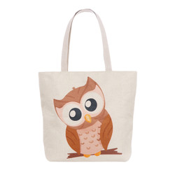 Owl Thinker Tote Beach Bag