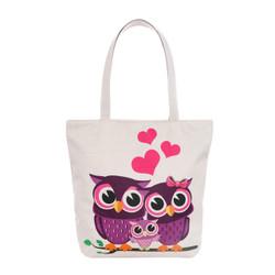 Owl Family Tote Beach Bag
