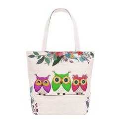 Owls Spring Garden Tote Beach Bag