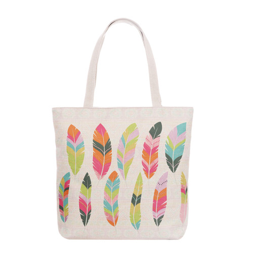 Feather Tote Beach Bag