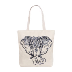 3D Elephant Tattoo Tote Beach Bag