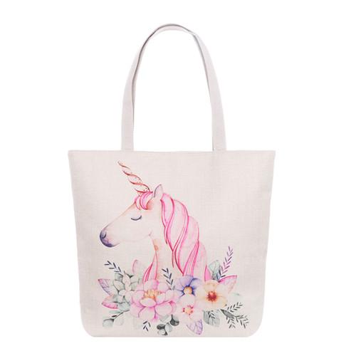 Pretty Unicorn Tote Beach Bag