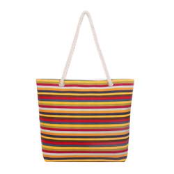 Retro Rainbow Stripes Tote Beach Bag