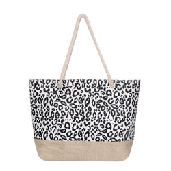 Tow Toned Cheetah and Canvas Tote Beach Bag