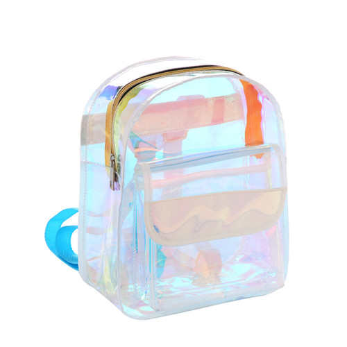 Clear PVC Backpack Fashion Bag Aqua Blue