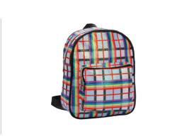 Haymarket Checkered Glittering Backpack Fashion Bag Rainbow