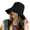 Wired Cotton UV Hat for Women Black
