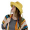 Wired Cotton UV Hat for Women Mustard