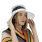 Clear PVC Bucket Hat Vinyl Rain Hat White Band