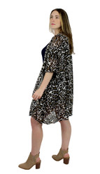 Leopard Print Short Sleeve Kimono
