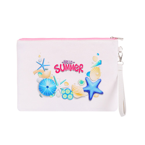 Large Padded Makeup Bag Wristlet Envelope Hello Summer