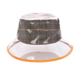 Orange PVC Bucket Hat Vinyl Rain Hat Haymarket