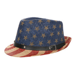 Patriotic Fedora Hat Unisex Old Glory