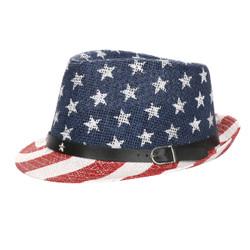 Patriotic Fedora Hat Unisex White