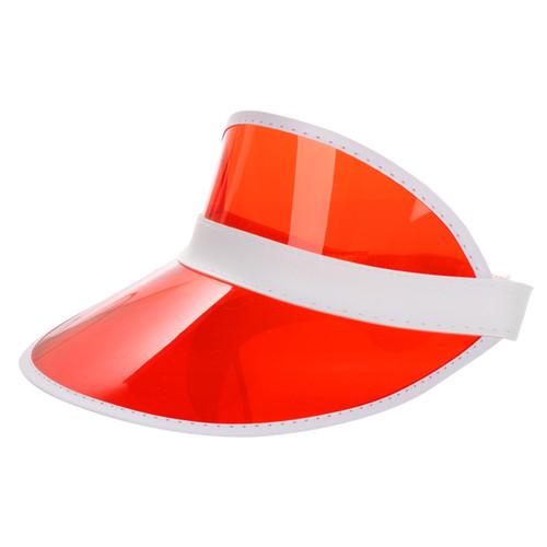 Transparent Summer Visor Red