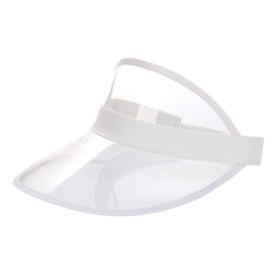 Transparent Summer Visor White