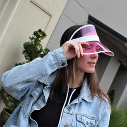 Transparent Summer Visor Pink