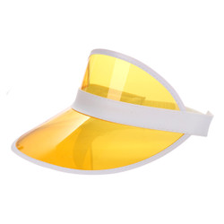 Transparent Summer Visor Yellow