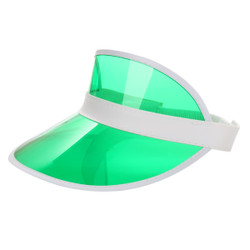 Transparent Summer Visor Green