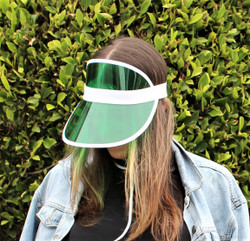 Transparent Summer Visor Green