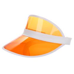Transparent Summer Visor Orange