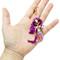 Mermaid Keychain Rhinestones Purple