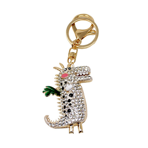 Crystal Crocodile Keychain Clear