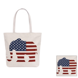 Canvas Tote Bag Republican Elephant