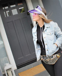 Clear PVC Fanny Pack Leopard
