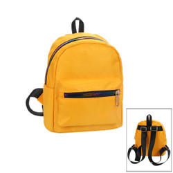 Small Backpack with Rainbow Zippers Mustard