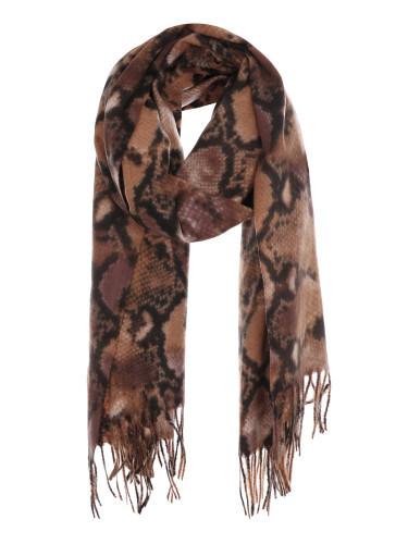 Ultra Soft Snake Skin Print Scarf Cashmere Feel Wrap