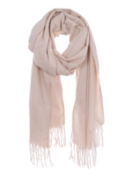 Ultra Soft Solid Color Scarf Cashmere Feel Wrap Beige